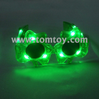 led light up green shamrock sunglasses tm00890