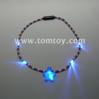 led light up jumbo star necklace tm02636