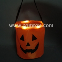 led light up pumpkin candy bag tm190-001