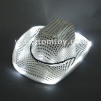 led light up sequin cowboy hats tm000-050-sr