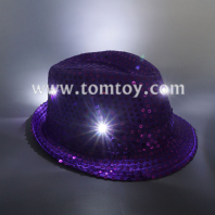 led light up sequin fedora hats tm03144-pl