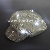 led light up sequin newsboy hat tm02519
