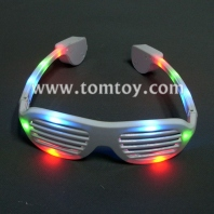 led light up shutter shaped glasses tm046-002-wt