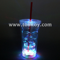 led light up skull cup with straw tm01852