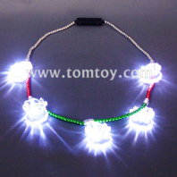 led light up snowman necklace tm00657