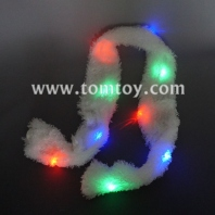 led light up soft white scarf tm-050