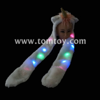 led light up unicorn hat scarf tm-050