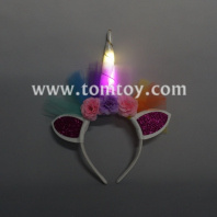 led light up unicorn headband tm03178