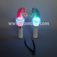 led light up unicorn spinning wand tm05724