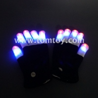 led multicolor five fingers gloves tm00510