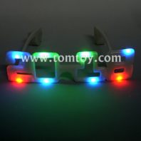 led new year light up glasses 2018 tm02641-milky