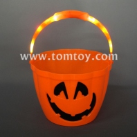 led pumpkin trick-or-treat bucket tm185-005