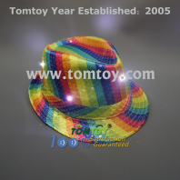 led rainbow sequin fedora tm000-049-6mlt
