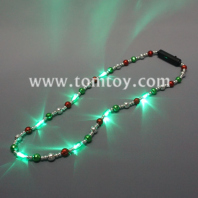 led red green white beads necklace tm03276