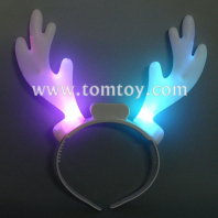 led reindeer horns headband tm101-150-wt