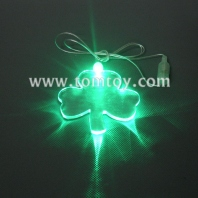 led shamrock necklace tm00057-shamrock