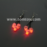 led skull earrings tm01093-skull