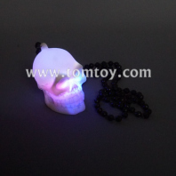 led skull necklace with beads tm00027