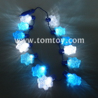 led snowflake necklace blue and white tm101-105