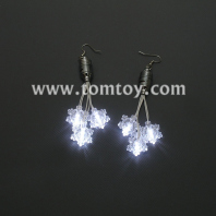 led snowflakes earrings tm01094