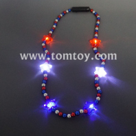 led star beads necklace tm04120-rwb