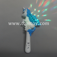 led unicorn wand with disco ball tm04299
