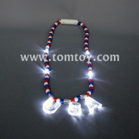 led usa red-white-blue bead necklace tm041-017