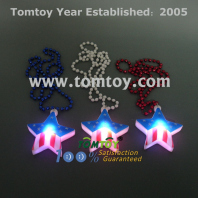 led usa star necklace tm000-097