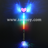 light up angel wing heart wand tm126-001-bl