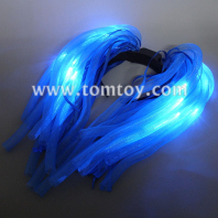 light up blue hair noodles headband with blue ribbon tm03019-bu