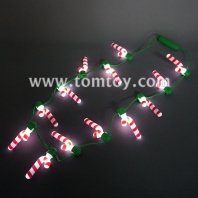 light up candy cane necklace tm101-165