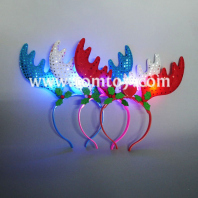 light up christmas headband reindeer antlers tm02740
