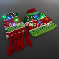light up christmas knitted hat and scarf tm06937