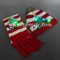 light up christmas tree beanie hat and scarf tm06921