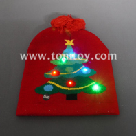 light up christmas tree beanie hat tm06905