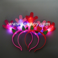 light up christmas tree reindeer antlers headband tm02743