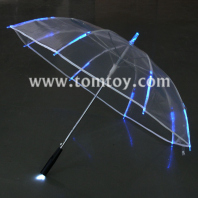 light up clear umbrella with blue leds tm104-001