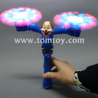 light up clown spinner wand tm052-069-bl