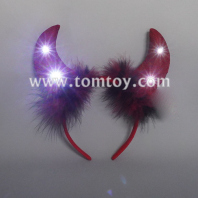 light up devil horn headband tm06580