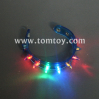 light-up flashing led spike bracelets tm01495