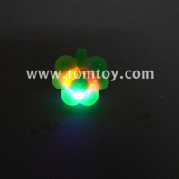 light up flashing trefoil bumpy rings tm01945