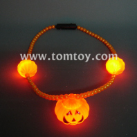 light up halloween pumpkin necklace tm041-090