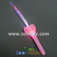 light up heart fiber optic stick tm00320