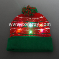 light up knitted hat for christmas tm06918