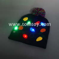 light up knitted hat with light string pattern tm04002