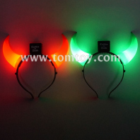 light up led devil horns headband tm02559