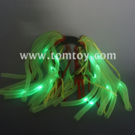 light-up led party rave disco glowing flashing noodle hair light dreads tm03020