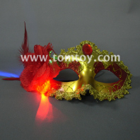 light up mask with feather tm179-003