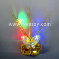 light up masquerade feather mask tm02006
