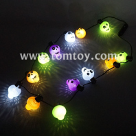 light up multicolor skull necklace tm101-160